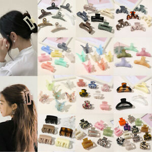 Women Plastic Hair Claw Acrylic Grip Hair Clip Girl Hairpin Crab Claw Jaw Clamp