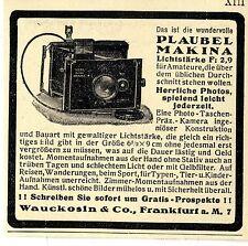 Wauckosin & Co Frankfurt a.M. Photo- Taschen Präz.- Kamera Plaubel Makina v.1929