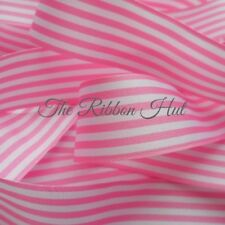 Berisfords Stripe Ribbon 15 Colours 3 Widths 2 Lengths to Choose From 9mm X 5mtr Pink #113