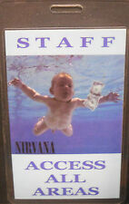 "Nirvana Backstage Pass ""Nevermind Tour"" - Kurt Cobain"
