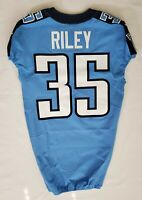 #35 Curtis Riley of Tennessee Titans NFL Locker Room Game Issued Jersey