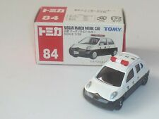 Vintage ! TOMY TOMICA 2002, NO. 84, NISSAN MARCH PATROL CAR. (SCALE: 1/58)