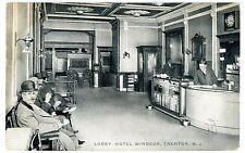 Trenton NJ - LOBBY OF HOTEL WINDSOR - Postcard