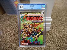 Invaders 2 cgc 9.6 1st appearance of Brain Drain Marvel 1975 Cap Sub MINT NM WHT