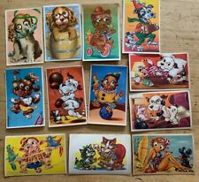 Alte AK Kinder Und Tiere Mit Wackelaugen 12 Ansichtskarten 60-ziger Denmark 3