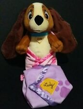 Disney Lady and the Tramp Baby in Blanket Plush Doll Toy Sweet Snuggles NWT Pink