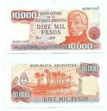 ARGENTINA NOTE 10000 PESOS (1978) CAMPS-DIZ B# 2486 SERIAL E P 306a UNC