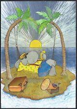 Postcard. 'Cinerella' by J.R.Henry. Desert Island. Dufex.  Unused.