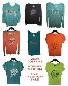 Miami Dolphins Women's Medium CLOSEOUT SALE Tanks, Shirts, Long Sleeve NFL