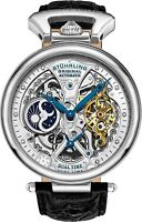 Stuhrling Emperor's Grand Dual Time Automatic Self-Wind Dress Watch 127A2.33152
