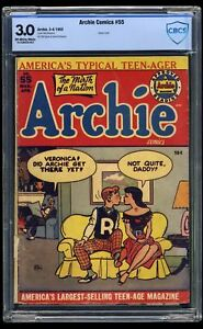 Archie Comics #55 CBCS GD/VG 3.0 Off White to White