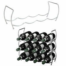 3fach Weinregal Weinflaschenregal Flaschenregal Flaschenständer stapelbar Metall