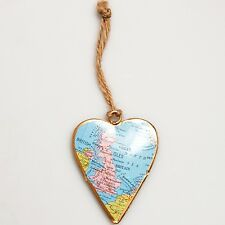 Sass and bell vintage uk carte hanging heart-metal hanging décoration