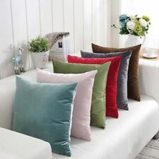 Pillow Covers Cases Solid Colors Luxury Velvet Cushion Cover Decorative 10Colors