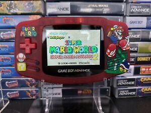 Gameboy Advance Mario IPS V2 Backlit UV Shell (AGS-101)
