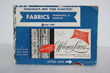 Fairchild's New York Directory - Fabrics Trims Notions Buttons - Blue Book 1957