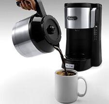 Delonghi ICM 15740 Trend Kaffeemaschine 1,25L Thermoskanne 1000W Schwarz Silber
