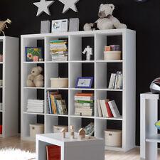 Raumteiler Style 6 Bücherregal Büro Regal Regalsystem in weiß mit 16 Fächern 4x4