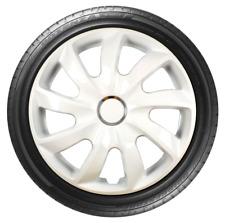 """4x Wheel Covers Hub Caps 14Inch Universal Wheel Trims ABS 14"""" Trim [STIG White]"""