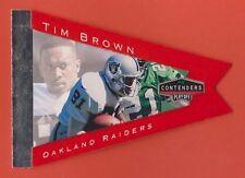 1998 Playoff Contenders Pennant Orange Tim Brown Raiders #67 (KCR)