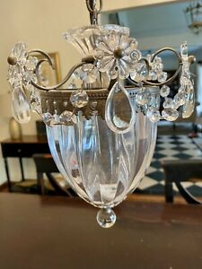 Vintage Crystal Chandelier Hanging Pendant Light