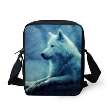 Fahsion Wolf Bag Small Messenger Shoulder Bag Hiking Purse Casual Cross Body Bag