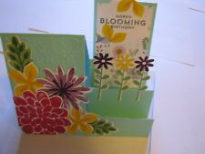 Happy Bloom Birthday Flower Friend step Handmade Card Kit 4 with some stampin up