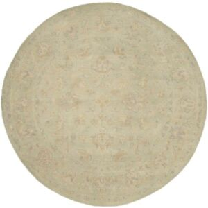 Beige Transitional Floral Design 6X6 Oushak Chobi Oriental Round Rug Home Carpet
