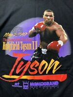 VTG 90s Mike Tyson Holyfield Tee Size XL T-shirt Sound The Fury Rap VTG 97 RARE