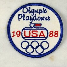 Vintage 1988 USA Curling Olympic Playdowns Patch
