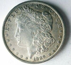 1889 UNITED STATES DOLLAR - AU - MORGAN - Rare Date Silver Coin - Lot #L28