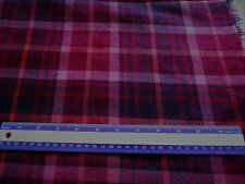 "Wool Blend fabric? pink & burgundy plaid with pink metallic threads-1 yd 8""x 60"""