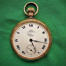 ansprech. Waltham, US A Men's Pocket Watch, 9 carat gold, Browsing Perfect, 1918