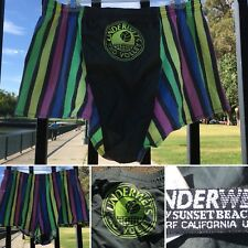 Vintage Underwets Pro Volley Shorts By Sunset Beach Surf California USA 80s L