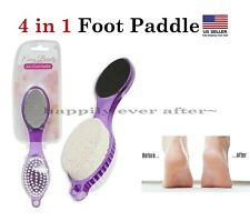 4 in 1 Foot Paddle, Pedicure Tool, Calluses Remover, Easy to Grab *US SELLER*