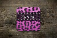 Personalised pink Leopard Print  Novelty Photo Glossy Mug Square Coaster ,