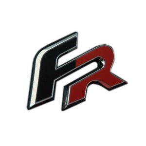 Chrome Red & Black Car Badge For FR Tailgate Rear Boot 62x32mm Upgrade