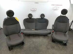 2014 FIAT 500 POP FRONT & REAR CLOTH MANUAL BUCKET SEATS - DARK GREY CEF