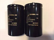 2 condensadores audio EPCOS Sikorel 22000uF 63V Siemens