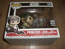 Leia Skywalker con speeder bike vinilo figure funko pop Movies nº 228 nuevo