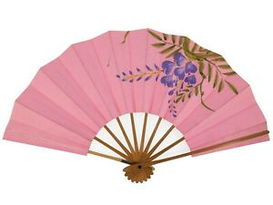 Vintage Japanese Child's Odori 'Maiogi' FoldingDanceFan Small Pink: May20-P