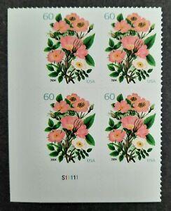 Plate block of 60 cent Garden Bouquet SC# 3837 MNH