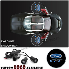 Car Door GT Logo Courtesy Projector Laser Ghost Shadow Light For Ford Mustang GT