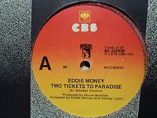 "Eddie Money ""Two Tickets To Paradise"" 1978 CBS 7"" 45rpm"