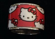 Hello Kitty Red Wide Band Graphic Ring Sz 5.5 Sanrio Rare Kimora Lee Simmons 3J