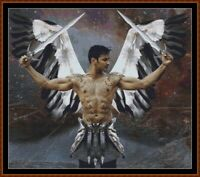 WARRIOR ANGEL cross stitch pattern PDF (point de croix)