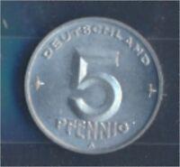 DDR Jägernr: 1502 1950 A Stgl./unzirkuliert 5 Pfennig Ähre auf Zahnrad (7849365