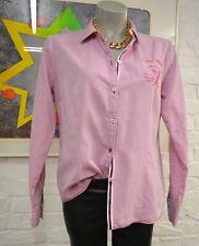 Milano Italy schöne Bluse 40 Rosa langarm Klassisch Baumwolle*556