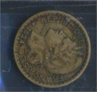 Togo 2 1924 sehr schön Aluminium-Bronze 1924 1 Franc Laureate (8977188