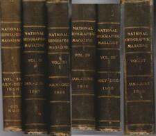 NATIONAL GEOGRAPHIC 6 Bound Volumes 1915 -- 1917 World War I + 1920